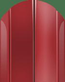 Евроштакетник металлический для забора полукруглый 115мм