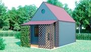 Дачный садовый домик.